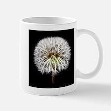 White Dandelion Flower Plant Mugs