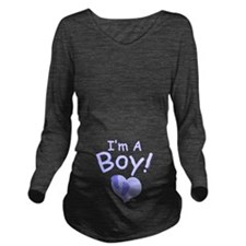 I'm A Boy Long Sleeve Maternity T-Shirt