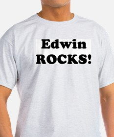 Edwin Rocks! Ash Grey T-Shirt