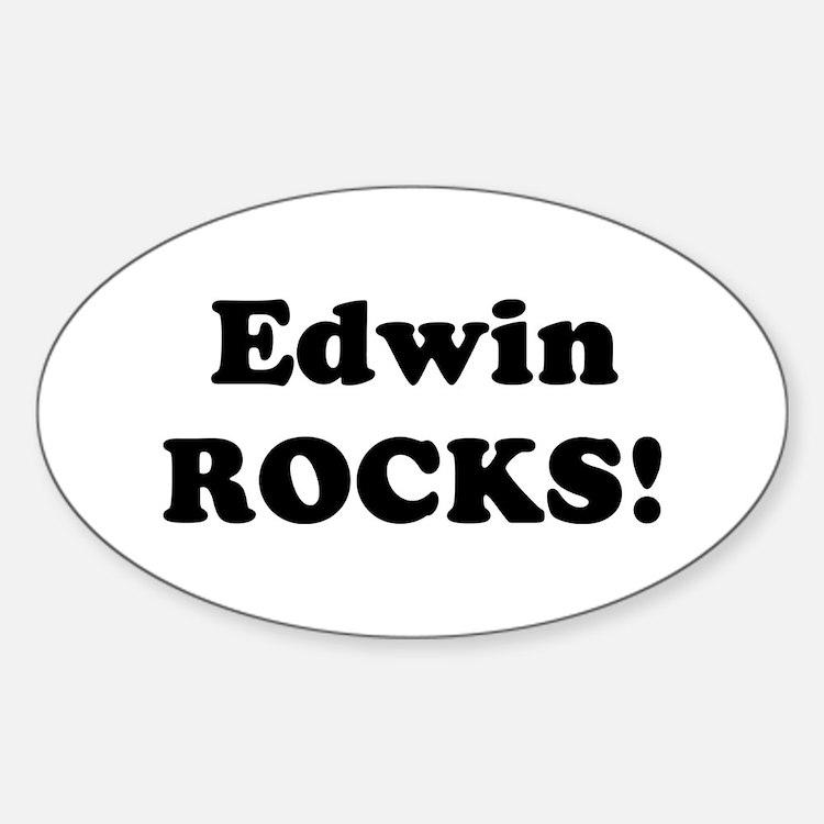 Edwin Rocks! Oval Decal