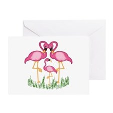 So Sweet Flamingos Greeting Card