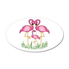 So Sweet Flamingos Wall Decal