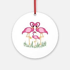So Sweet Flamingos Ornament (Round)