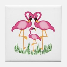 So Sweet Flamingos Tile Coaster
