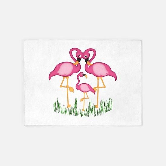 So Sweet Flamingos 5'x7'Area Rug