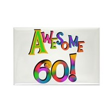 Awesome 60 Birthday Rectangle Magnet