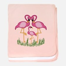 So Sweet Flamingos baby blanket
