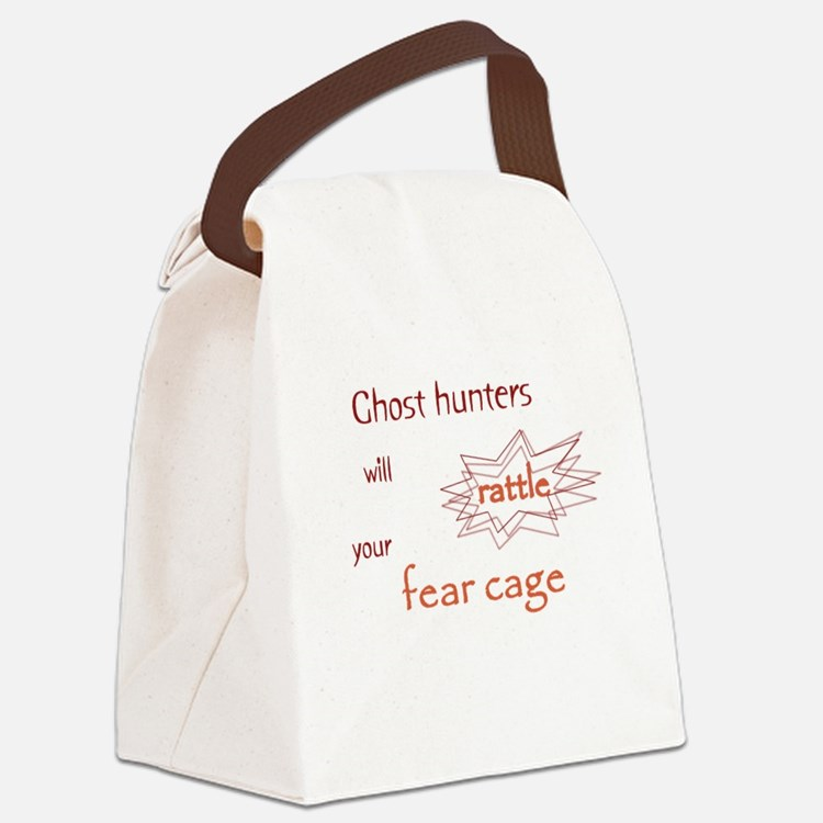 Ghost Hunters Rattle Fear Cages Canvas Lunch Bag