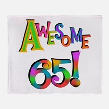 Awesome 65 Birthday Throw Blanket
