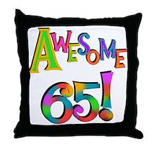 Awesome 65 Birthday Throw Pillow
