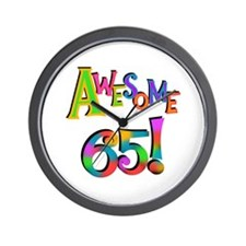 Awesome 65 Birthday Wall Clock