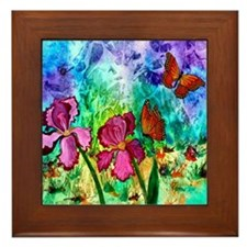 "Pink Iris 6"" Framed Tile"
