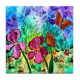 Pink iris Drink Coasters