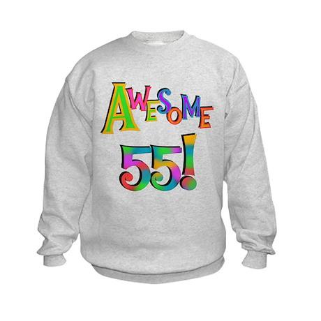 Awesome 55 Birthday Kids Sweatshirt