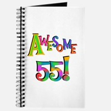 Awesome 55 Birthday Journal