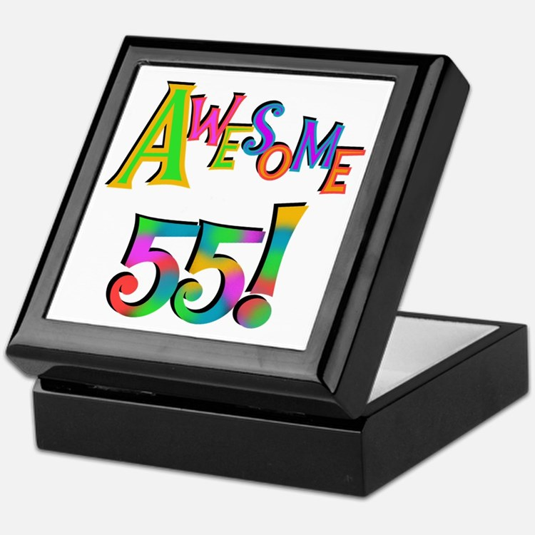 Awesome 55 Birthday Keepsake Box
