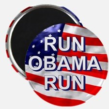 Run Obama Run Magnet