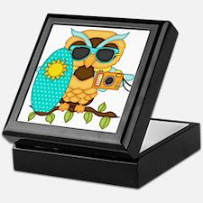 Surfing Boy Owl Keepsake Box