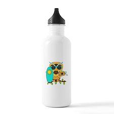 Surfing Boy Owl Water Bottle