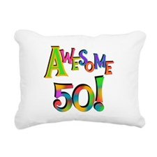 Awesome 50 Birthday Rectangular Canvas Pillow