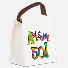 Awesome 50 Birthday Canvas Lunch Bag