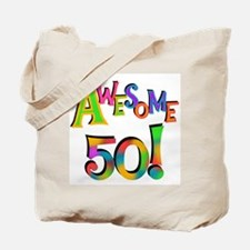 Awesome 50 Birthday Tote Bag