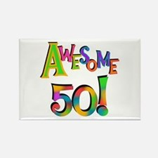Awesome 50 Birthday Rectangle Magnet
