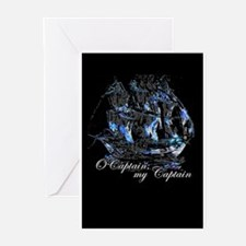 O CAPTAIN, MY CAPTAIN - Greeting Cards (Package o