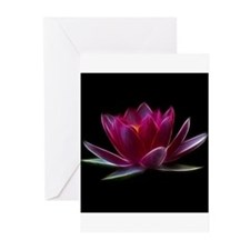 Lotus Flower Water Plant Greeting Cards