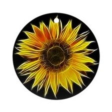 Fractal Sunflower Ornament (Round)