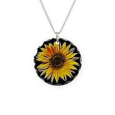 Fractal Sunflower Necklace