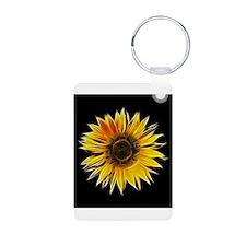 Fractal Sunflower Keychains