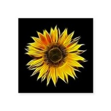 Fractal Sunflower Sticker