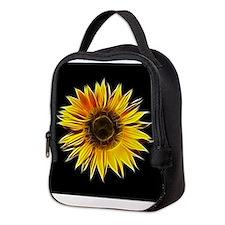 Fractal Sunflower Neoprene Lunch Bag