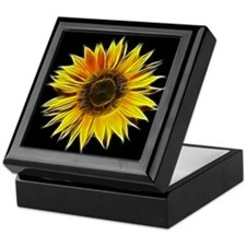 Fractal Sunflower Keepsake Box