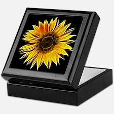 Fractal Sunflower Keepsake Box