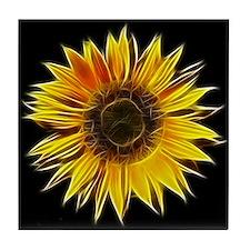 Fractal Sunflower Tile Coaster