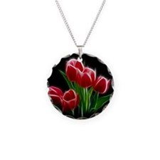 Tulip Flower Red Plant Necklace