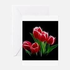 Tulip Flower Red Plant Greeting Cards
