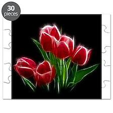 Tulip Flower Red Plant Puzzle