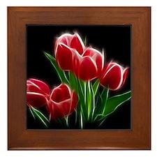 Tulip Flower Red Plant Framed Tile