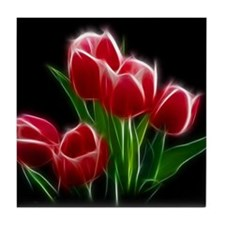 Tulip Flower Red Plant Tile Coaster