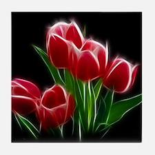 Tulip Flower Red Plant Tile Coaster