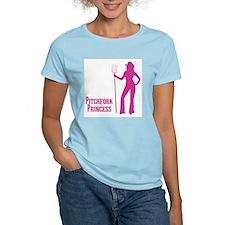 Pitchfork Princess, Sexy Cowgirl Women's Pink T-Sh