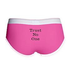 Trust No One (Black) Women's Boy Brief