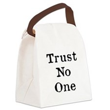 Trust No One (Black) Canvas Lunch Bag
