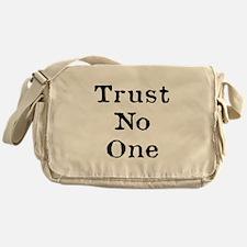 Trust No One (Black) Messenger Bag