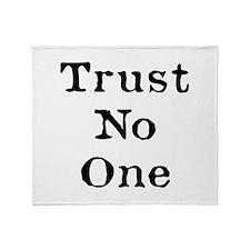 Trust No One (Black) Throw Blanket