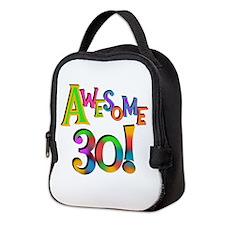Awesome 30 Birthday Neoprene Lunch Bag