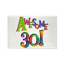 Awesome 30 Birthday Rectangle Magnet